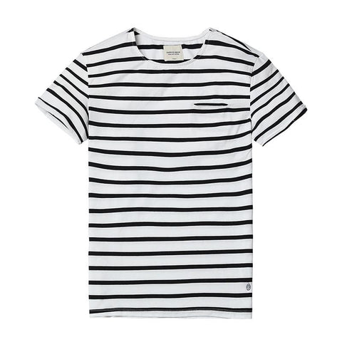 T-Shirts - Striped Pocket Tee