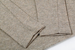 T-Shirts - Temp Control Cotton Lycra Henley Tan