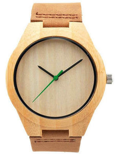 Bamboo Watch w/ Green Hand
