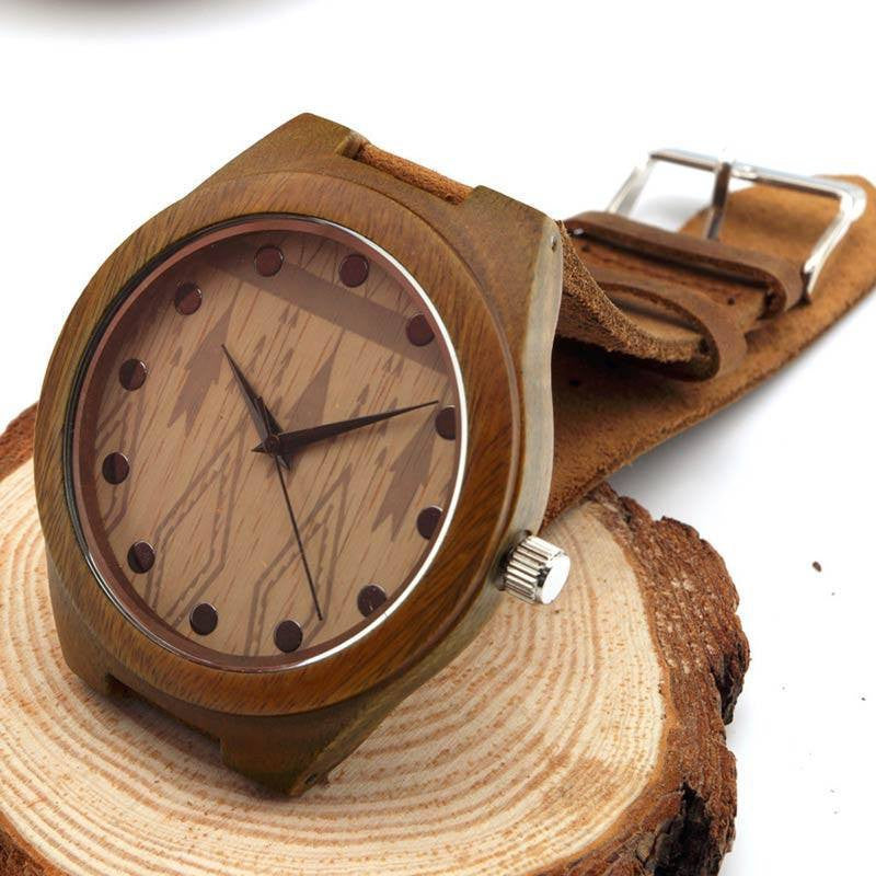 Watches - Bamboo Watch W/ Pattern