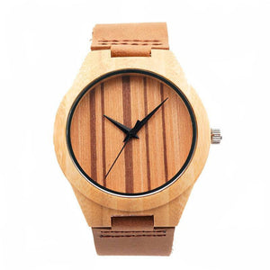 Bamboo Watch w/ Zebra Pattern