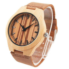 Watches - Bamboo Watch W/ Zebra Pattern