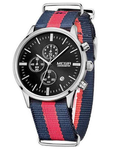 The Emery Watch Red and Navy