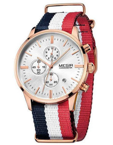 The Emery Watch Red White and Blue