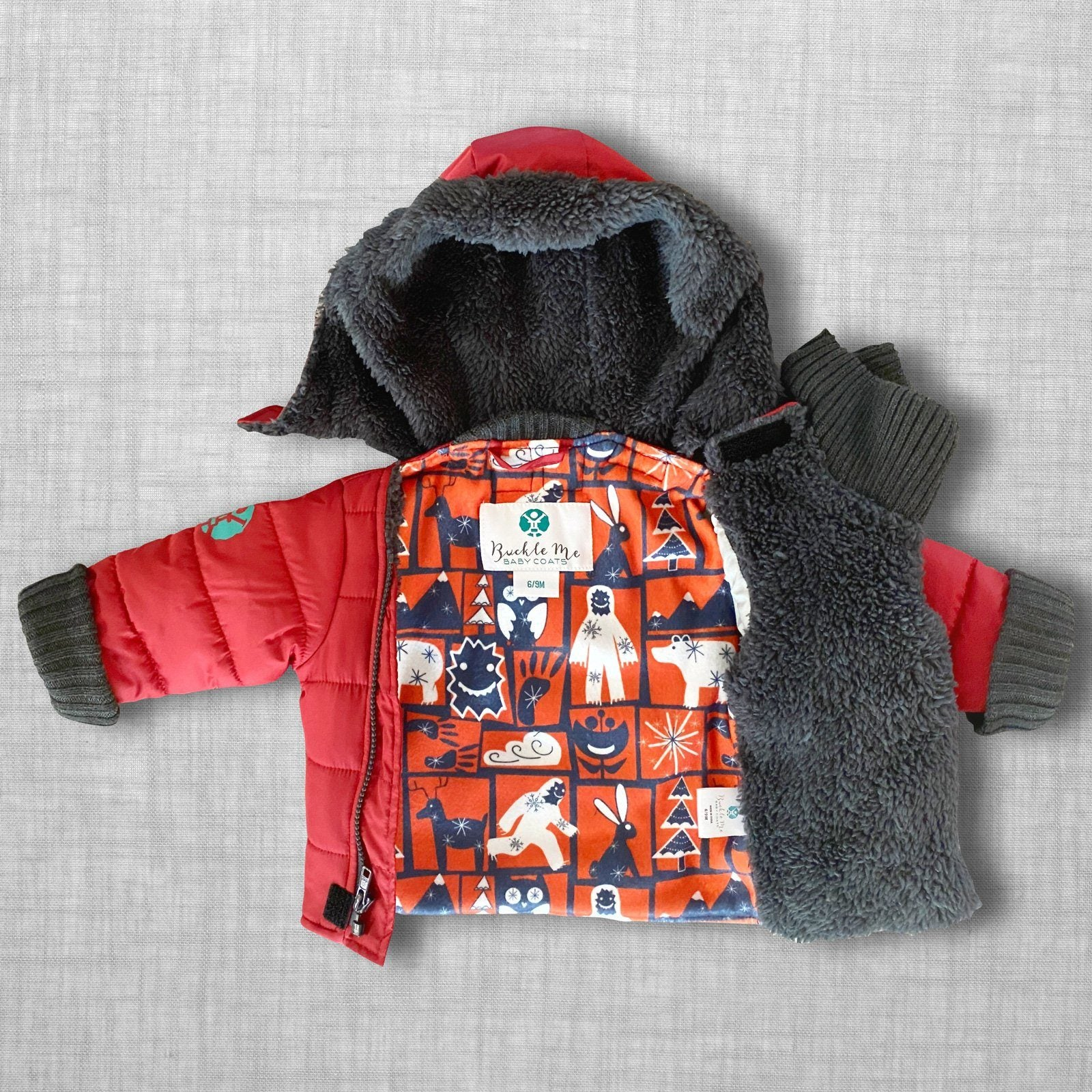 Yeti Spaghetti Buckle Me Baby Coat - front