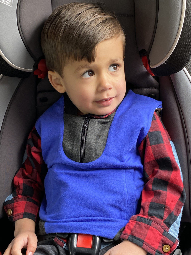 Car Seat Vest Buckle Me Baby Coat - male child wearing vest in car seat