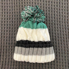 Green Striped Knit Hat