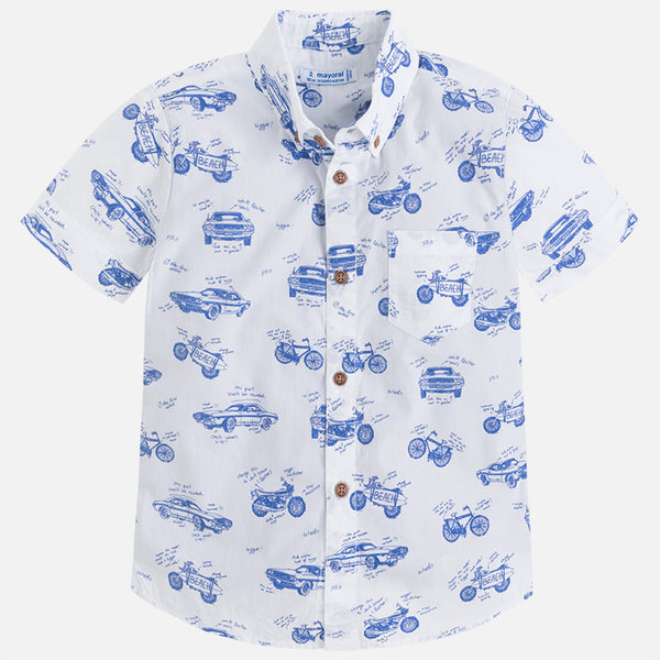 Dinasour Print Two-in-one Shirt