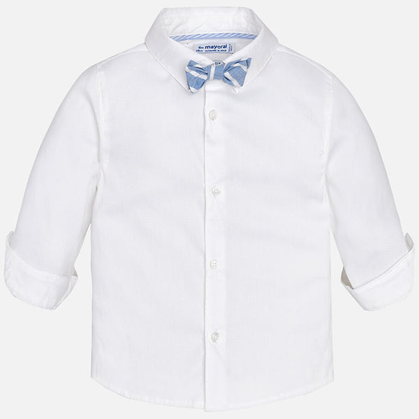 Long Sleeve Shirt with Bowtie