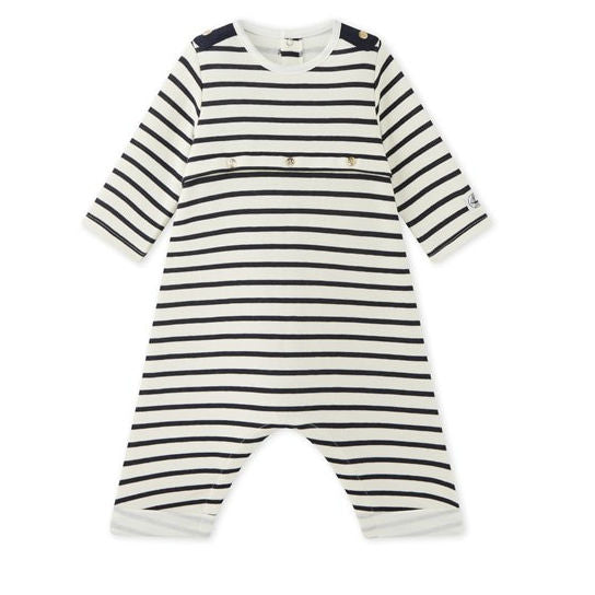 Navy Striped Bodysuit