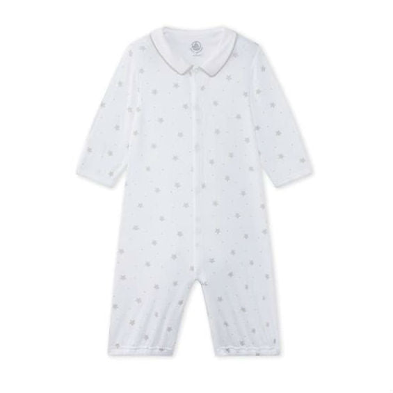 White Starry Sleepsuit