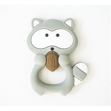 Grey Racoon Silicone Teether