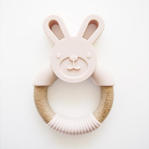 Pink Bunny Silicone Teether