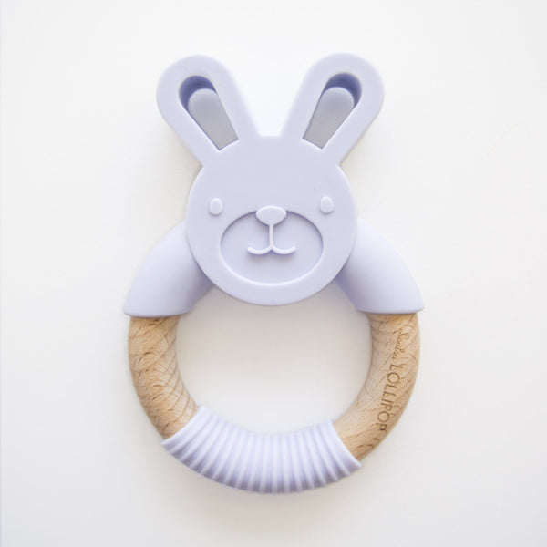 Lavender Bunny Silicone Teether