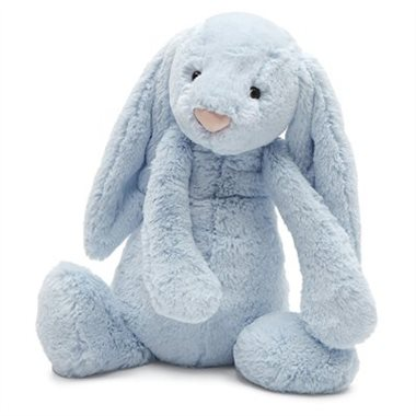 Bashful Large Light Blue Bunny