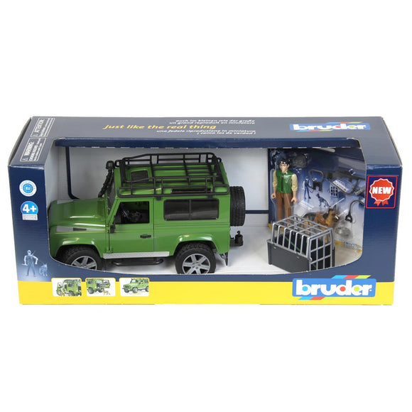 Land Rover Defender with Dog