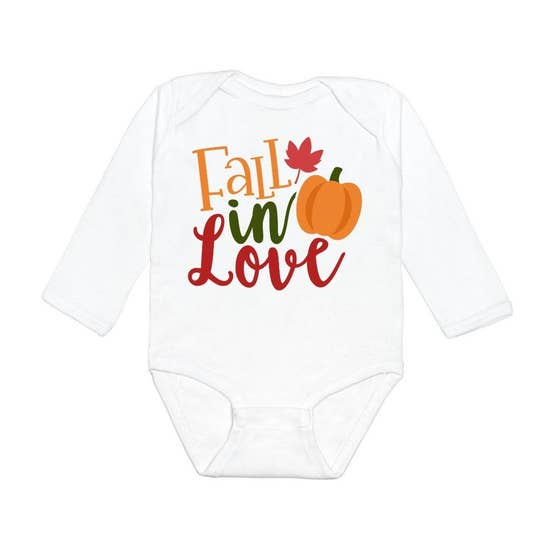 Fall in Love Long Sleeve Bodysuit