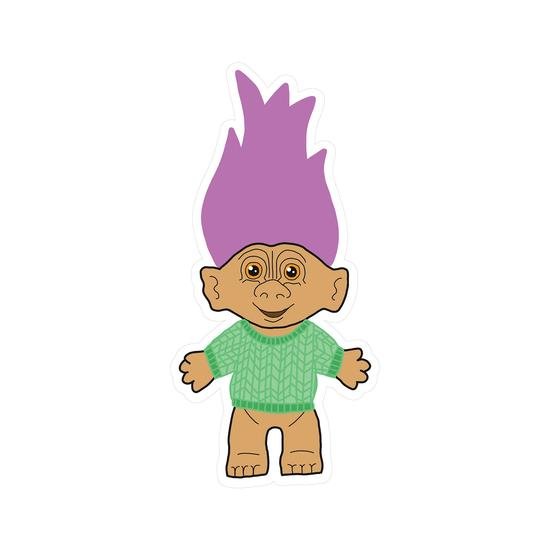 Purple Haired Troll Vinyl Sticker
