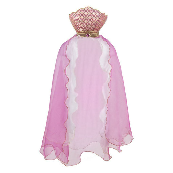 Mermaid Glimmer Cape: Pink Size 5-6