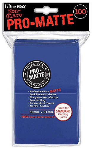 Ultra Pro Sleeves Matte: 100pc Blue