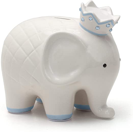 Blue Coco Elephant Piggy Bank