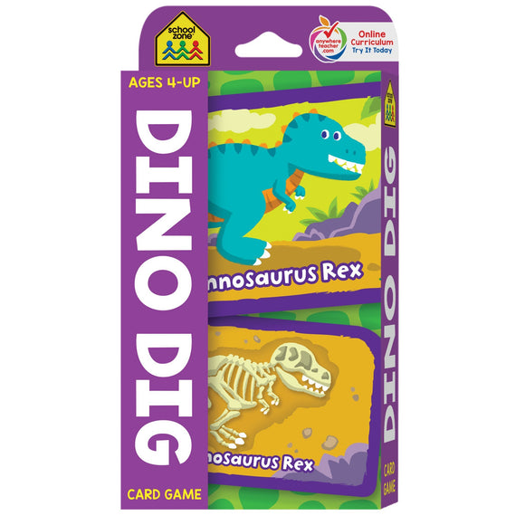 Dino Dig Game Flash Cards