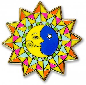 Enamel Pin: Sun & Moon