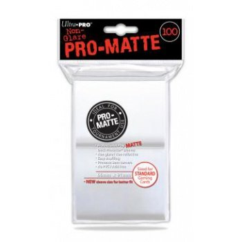 Ultra Pro Sleeves Matte: 100pc White