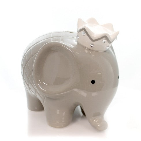 Gray Coco Elephant Piggy Bank