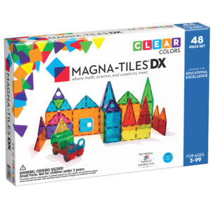 Magna-Tiles: Clear Colors DX 48pc Set