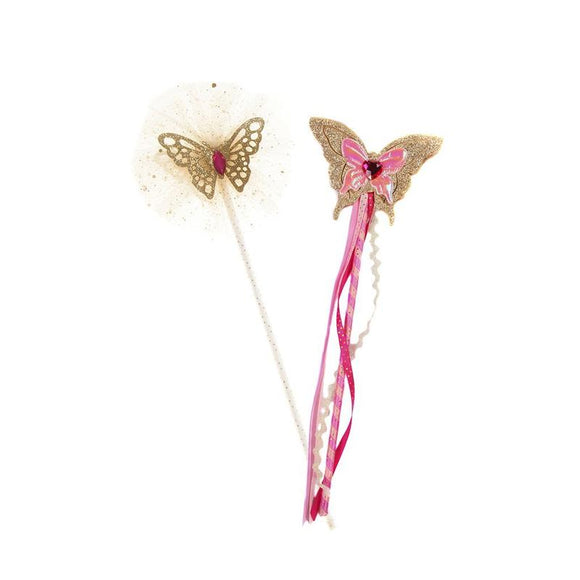 Gold/Pink Butterfly Wand