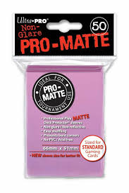 Ultra Pro Sleeves Matte: 50pc Pink