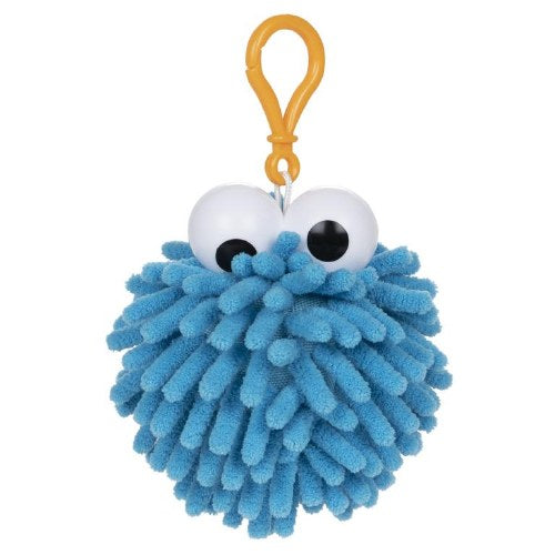Sesame Street: Cookie Monster Fuzzy Pom Clip