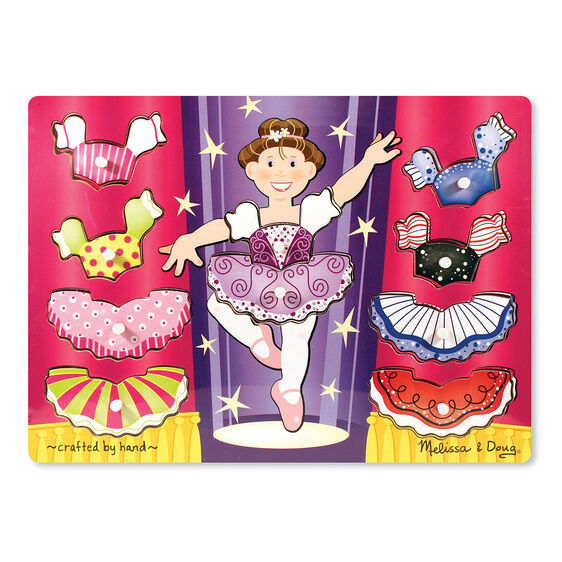 Dress-Up Ballerina Peg Puzzle
