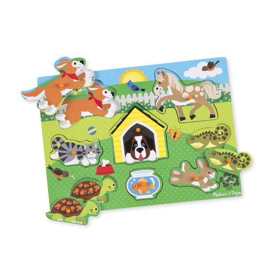 Pets Peg Puzzle - 8 Pieces