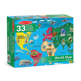World Map Floor Puzzle - 33 Pieces