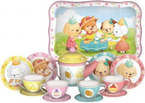 Puppy Tea Party Tin Set