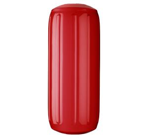 Classic Red boat fender with a center tube or hole through middle, Polyform HTM-1 Classic Red
