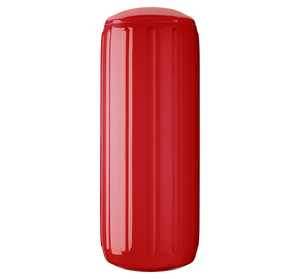 Classic Red boat fender with a center tube or hole through middle, Polyform HTM-3 Classic Red