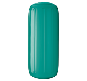 Teal boat fender with a center tube or hole through middle, Polyform HTM-2 Teal