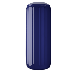Navy Blue boat fender with a center tube or hole through middle, Polyform HTM-3 Navy Blue