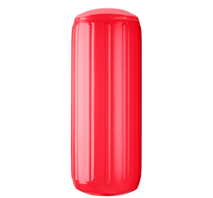 Red boat fender with a center tube or hole through middle, Polyform HTM-3 Red