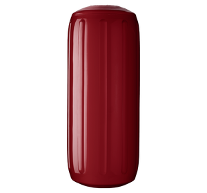 Burgundy boat fender with a center tube or hole through middle, Polyform HTM-2 Burgundy