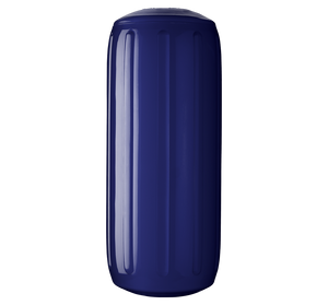 Navy Blue boat fender with a center tube or hole through middle, Polyform HTM-2 Navy Blue