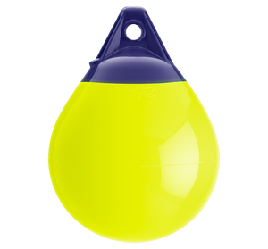 Saturn Yellow buoy with blue top, Polyform A-1 SAT YELLOW