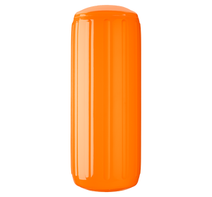 Orange boat fender with a center tube or hole through middle, Polyform HTM-3 Orange