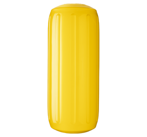 Yellow boat fender with a center tube or hole through middle, Polyform HTM-2 Yellow