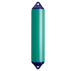 Teal boat fender with blue top, Polyform F-4 Teal