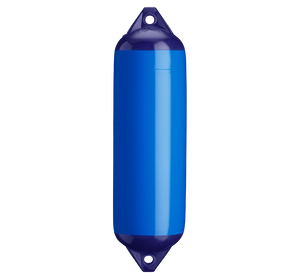 Blue boat fender with blue top, Polyform F-3 Blue