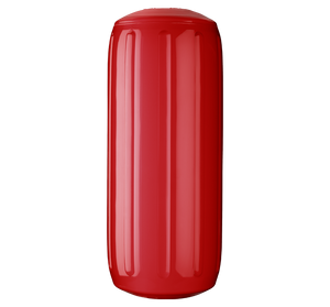 Classic Red boat fender with a center tube or hole through middle, Polyform HTM-2 Classic Red